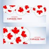 Ensemble de bannières de jour de Canada Photos libres de droits