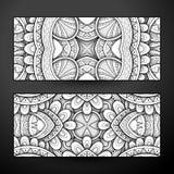 Ensemble de bannières monochromes, élément de web design Image libre de droits