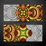 Ensemble de bannières partiellement colorées, élément de web design Images libres de droits