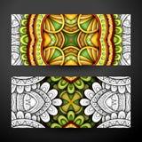 Ensemble de bannières partiellement colorées, élément de web design Photos stock