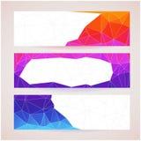 Ensemble de bannières pour votre site Web, triangle Photographie stock libre de droits