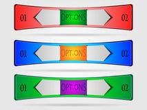 Ensemble de bannières techniques colorées Photo stock