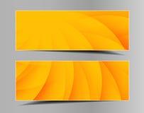 Ensemble de bannières horizontales d'été-ressort Photos stock