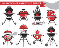 Ensemble de barbecue Photos stock