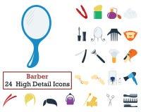Ensemble de 24 Barber Icons illustration de vecteur