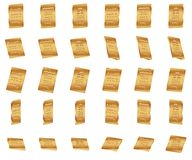 ensemble de barre d'or 3d illustration libre de droits