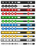 Ensemble de barre horizontale de Media Player de musique Images libres de droits