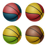 Ensemble de basket-balls Images libres de droits