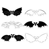 Ensemble de 'bat' initiales Image stock