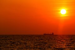 Ensemble de bateau et de Sun Photo libre de droits