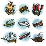 Ensemble de bateaux illustration libre de droits