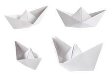 Ensemble de bateaux de papier Photos libres de droits