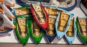 Ensemble de bateaux fabriqués à la main en vue Photo stock