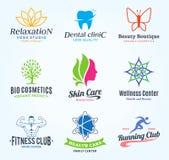 Ensemble de beauté de vecteur et logo de santé, icônes et éléments de conception Image libre de droits