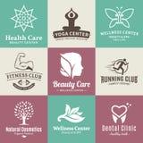 Ensemble de beauté de vecteur et logo de santé, icônes et éléments de conception Photos libres de droits