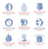 Ensemble de beauté de vecteur et logo de santé, icônes et éléments de conception Images stock