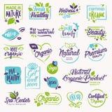 Ensemble de beauté et cosmétiques, station thermale et labels et éléments de bien-être illustration stock
