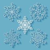 Ensemble de beaux petits flocons de neige de Deco