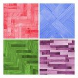 Ensemble de belles textures en bois colorées Image libre de droits