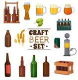 Ensemble de bière de métier illustration libre de droits
