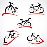Ensemble de bicyclette Vecteur Image stock
