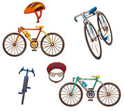 Ensemble de bicyclettes illustration libre de droits