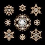Ensemble de bijoux d'or illustration de vecteur