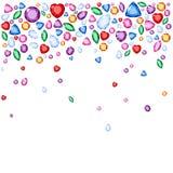 Ensemble de bijoux réalistes Pierres gemmes colorées Illustration de pierre gemme de vecteur illustration libre de droits