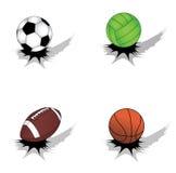 Ensemble de billes de sport Image stock