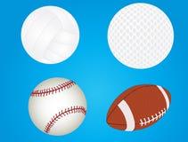 Ensemble de billes de sport illustration stock