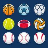 Ensemble de billes de sports Photo libre de droits