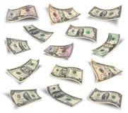 Ensemble de billets d'un dollar Images libres de droits