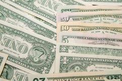 Ensemble de billets de banque du dollar Photos stock