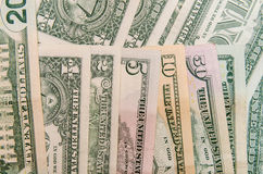 Ensemble de billets de banque du dollar Photo libre de droits