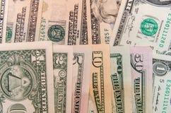 Ensemble de billets de banque du dollar Image libre de droits