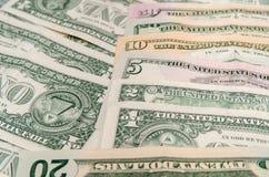 Ensemble de billets de banque du dollar Image stock