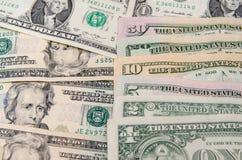 Ensemble de billets de banque du dollar Photo stock