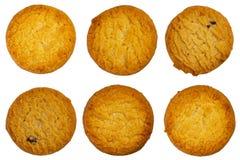 Ensemble de biscuit sur un fond d'isolement par blanc Image stock