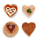 Ensemble de biscuits de coeur Photos libres de droits