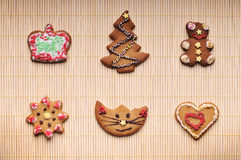 Ensemble de biscuits de Noël Photo stock