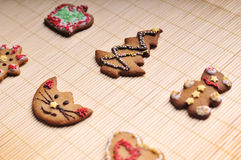 Ensemble de biscuits de Noël Photographie stock