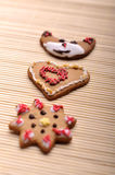 Ensemble de biscuits de Noël Photos libres de droits
