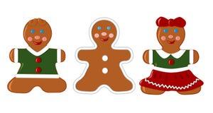 Ensemble de biscuits de pain d'épice Photographie stock libre de droits