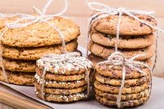 Ensemble de biscuits empilés Photos libres de droits