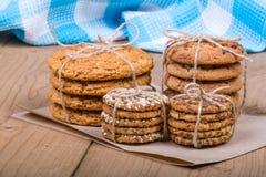Ensemble de biscuits empilés Photographie stock