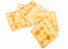 Ensemble de biscuits sur le fond blanc Photos stock