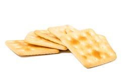 Ensemble de biscuits sur le fond blanc Photographie stock