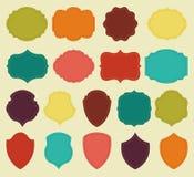 Ensemble de blanc coloré des labels et des cadres de vintage illustration stock