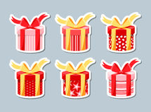 Ensemble de boîtes-cadeau Photos libres de droits