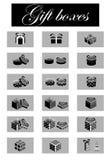 Giftboxes Photo stock